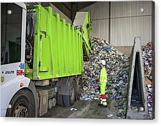 Recycling Centre Acrylic Print by Lewis Houghton/science Photo Library