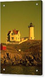 Cape Neddick Light Acrylic Print by Herbert Gatewood
