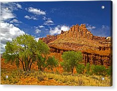 Capitol Reef National  Park Cathedral Valley Acrylic Print by Mark Smith