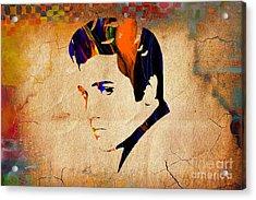 Elvis Presley Acrylic Print by Marvin Blaine