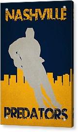 Nashville Predators Acrylic Print by Joe Hamilton