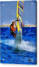 Windsurfing Acrylic Print