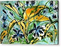 Heavenly Flowers Acrylic Print by Baljit Chadha