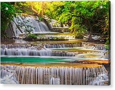 Erawan Waterfall Acrylic Print