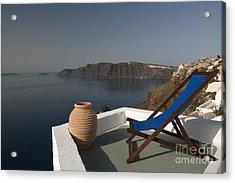 Santorini Acrylic Print by Borislav Stefanov