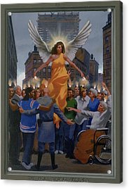 23. The Holy Spirit Arrives / From The Passion Of Christ - A Gay Vision Acrylic Print by Douglas Blanchard