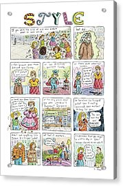 New Yorker March 16th, 2009 Acrylic Print by Roz Chast
