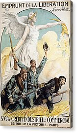 World War I French Poster Acrylic Print by Granger