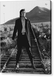 Johnny Cash Acrylic Print by Retro Images Archive