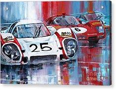 24 Le Mans 1970 Acrylic Print by Yuriy Shevchuk