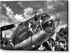 25 Missions Bw Acrylic Print by Mel Steinhauer