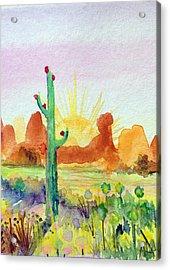 Southwestern Landscape Acrylic Print by Patricia Lazaro
