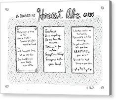 Introducing Honest Abe Cards Acrylic Print