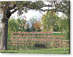 Christian Posters With Bible Verses Acrylic Print by Raja Bandi