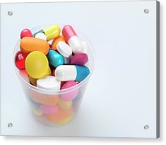 Pills Acrylic Print by Tek Image
