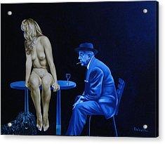 Sans Paroles Acrylic Print by Roland Delcol