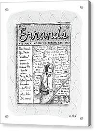 Errands The Magazine For The Errands Life Style Acrylic Print