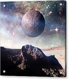 Alien Planet Acrylic Print by Detlev Van Ravenswaay