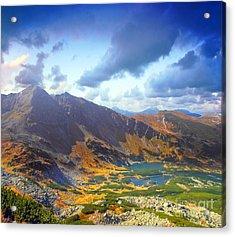 Mountains Landscape Acrylic Print by Michal Bednarek