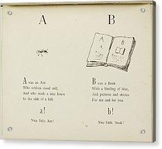 Nonsense Alphabets By Edward Lear Acrylic Print