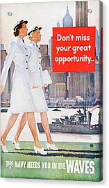 Wwii Poster, C1943 Acrylic Print