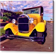 Acrylic Print featuring the painting '28 Ford Pick Up by Michael Pickett