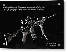 2nd Amendment Acrylic Print