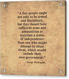 2nd Amendment Two Acrylic Print