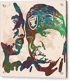 2pac Biggie Smalls Modern Pop Art  Poster Acrylic Print by Kim Wang