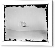 1902 Wilbur Wright Piloting Glider Acrylic Print by MMG Archives