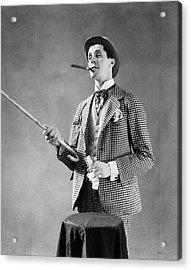 1910s 1920s Character Con Man Barker Acrylic Print