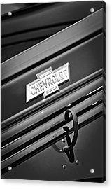 1938 Chevrolet Pickup Truck Emblem Acrylic Print by Jill Reger