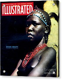 1940s Uk Illustrated Magazine Cover Acrylic Print by The Advertising Archives