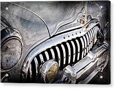 1947 Buick Eight Super Grille Emblem Acrylic Print by Jill Reger