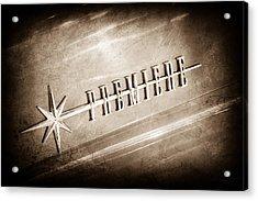 1956 Lincoln Premiere Emblem Acrylic Print