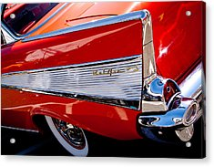 1957 Chevy Bel Air Custom Hot Rod Acrylic Print by David Patterson
