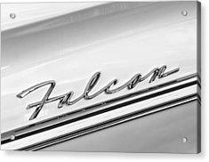 1963 Ford Falcon Futura Convertible   Emblem Acrylic Print
