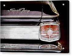 1963 Plymouth Sport Fury Taillight Emblem Acrylic Print by Jill Reger