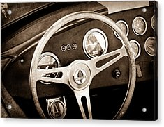 1965 Ac Cobra Steering Wheel Emblem Acrylic Print