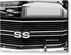 1970 Chevrolet Chevelle Ss Grille Emblem Acrylic Print by Jill Reger