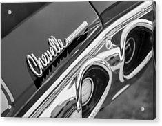 1972 Chevrolet Chevelle Taillight Emblem Acrylic Print