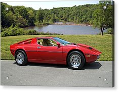 Acrylic Print featuring the photograph 1975 Maserati Merak by Tim McCullough