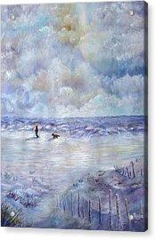 34th St. Beach Acrylic Print by Loretta Luglio
