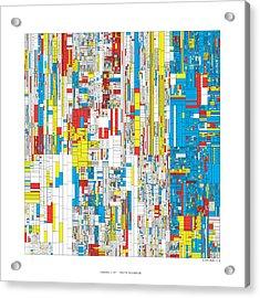 3628 Digits Of Pi Acrylic Print by Martin Krzywinski