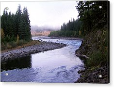 A Mountain Stream Acrylic Print by J D Owen
