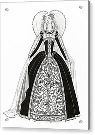 A Person Modeling A Historical Costume Acrylic Print by Claire Avery