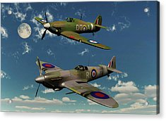A Royal Air Force Supermarine Spitfire Acrylic Print by Mark Stevenson