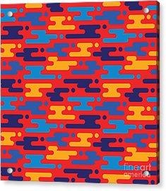Abstract Geometric Background - Acrylic Print by Sergey Korkin