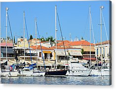 Aegina Port Acrylic Print by George Atsametakis