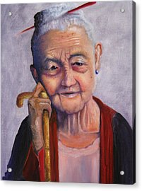 Ageless Beauty Acrylic Print